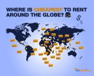 locations les moins cheres au monde